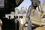 Ägyptische Bauarbeiter