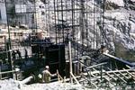 Betonarbeiten am Staudamm
