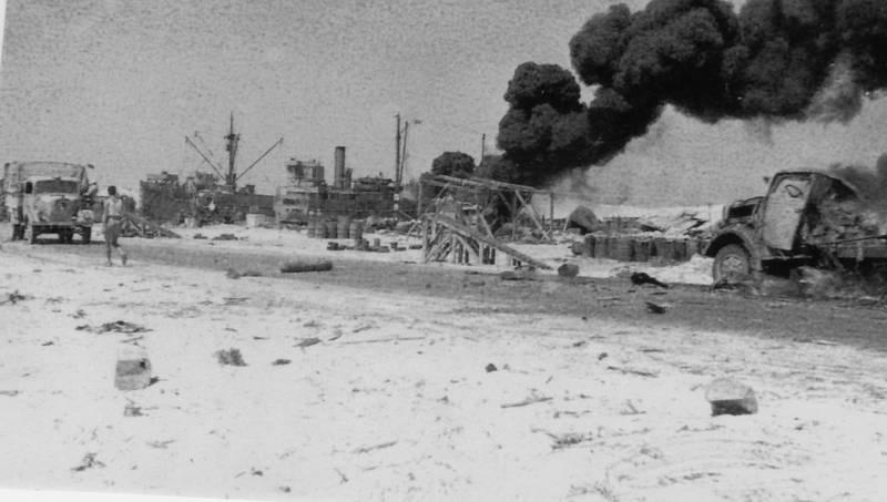 afrikakorps, brand, krieg, Lastwagen, Qualm, rückzug, schiff