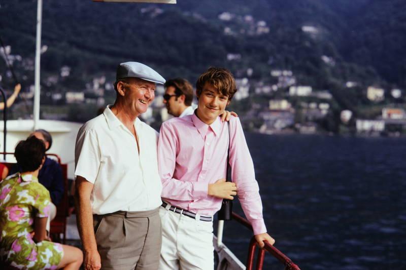 boot, Bootsrundfahrt, Enkelsohn, Großavter, Kindheit, Lago Maggiore, mode, urlaub, Urlaubsreise