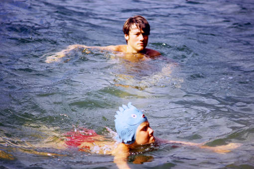 Schwimmen im Lago Maggiore