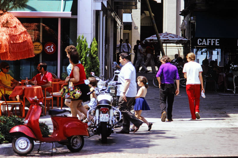 café, Lago Maggiore, mode, Motorroller, Stadtleben, Tessin