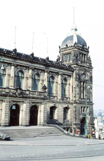 Architektur, Stadthalle, straße, Treppe, Wuppertal