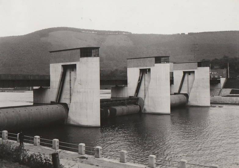 Architektur, Hirschhorn, Neckar, Paul Bonatz, Staustufe, Stauwehr