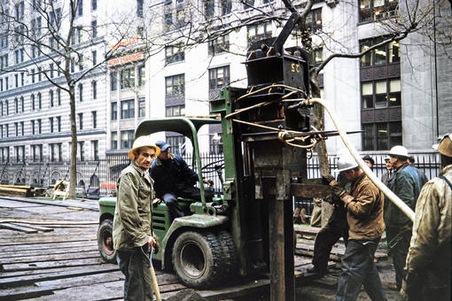 Bauarbeiter an der Wall Street