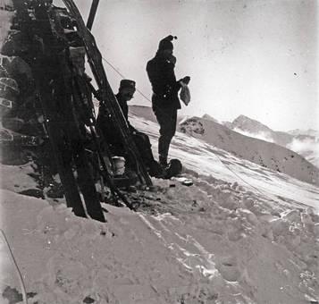 Ruhepause in den Alpen