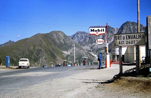 Eine Tankstelle in Andorra