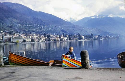 Ein Boot am Lago Maggiore