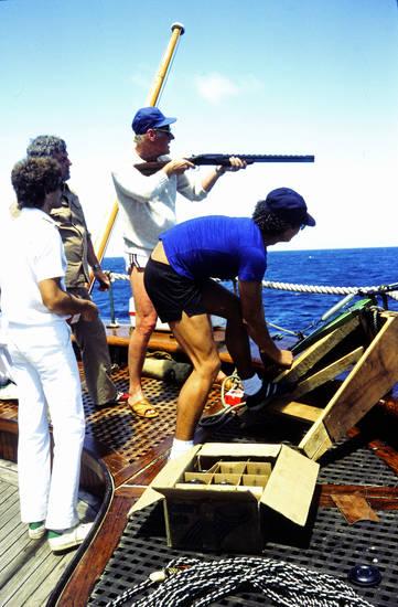 Cayman Inseln, Luxuskreuzfaht, schiff, Seacloud, Tontaubenschießen