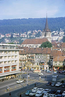 Der Neumarktplatz in Biel