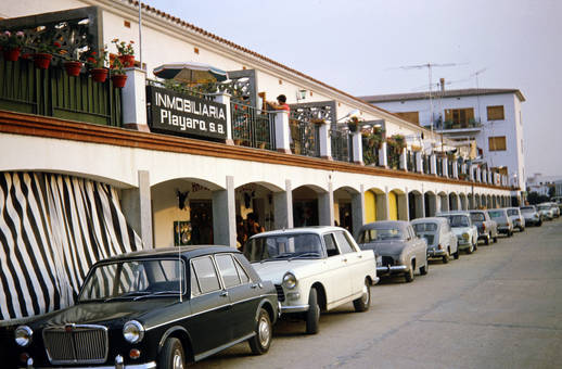 Eine Straße in Spanien