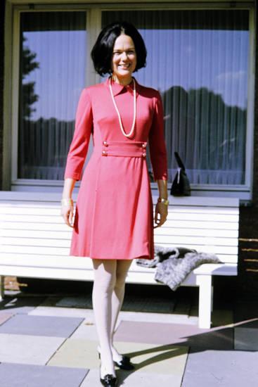 kleid, mode, Perlenkette, Rot, schuhe, Tasche