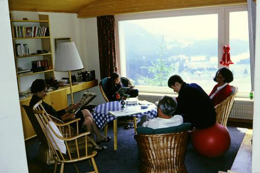 Panoramablick im Wohnzimmer