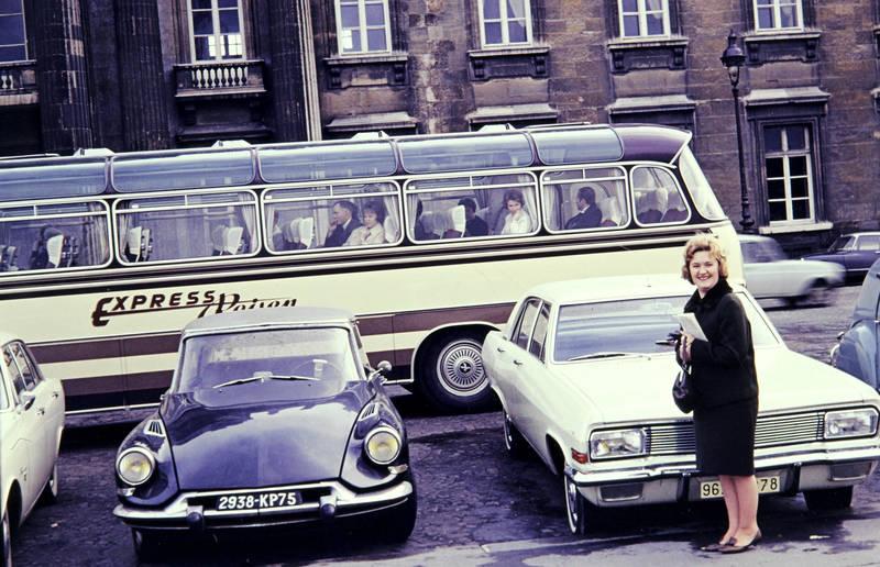 admiral-a, auto, bus, Citroen DS, KFZ, Opel, panoramabus, PKW, reise, Reisebus, urlaub