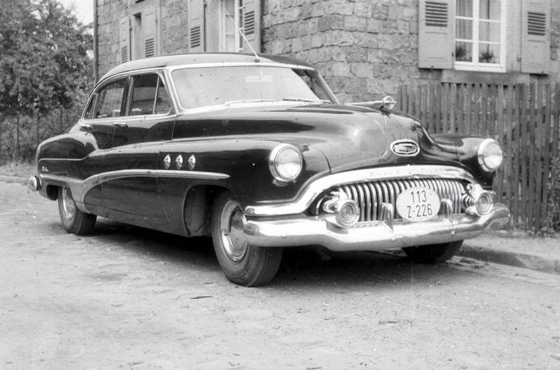 auto, Buick, Buick-Special, haus, KFZ, limousine, PKW, Zollkennzeichen