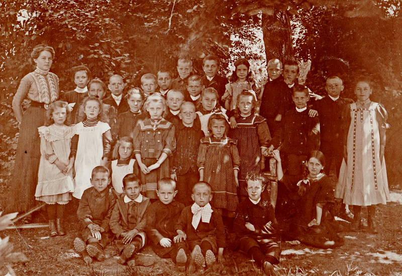 Klassenfoto, mode, Schüler, Schülerin, Schulklasse, Steinfeld, Volksschule