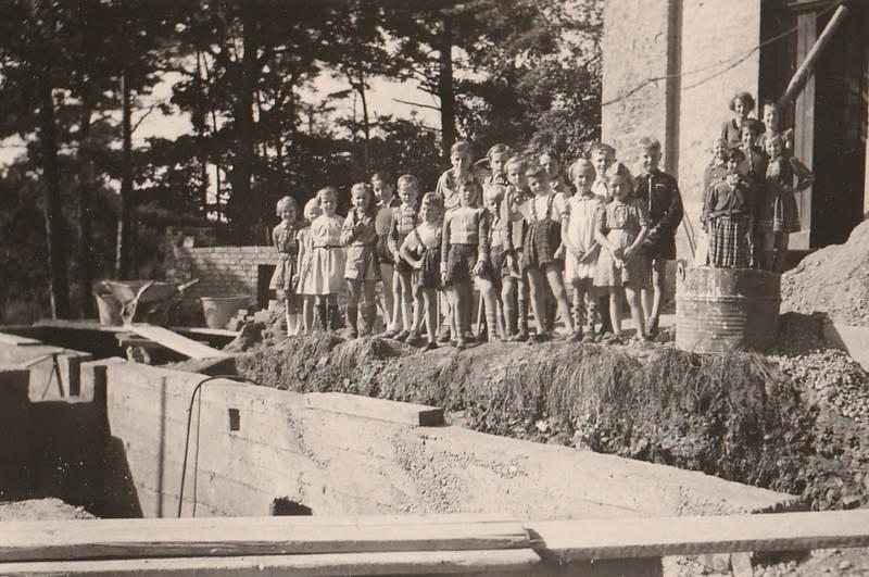 Baustelle, kapelle, Kindheit, Lehrerin, Münstereifel-Rodert, Rodert, Schulkind, Schulkinder, Schulklasse