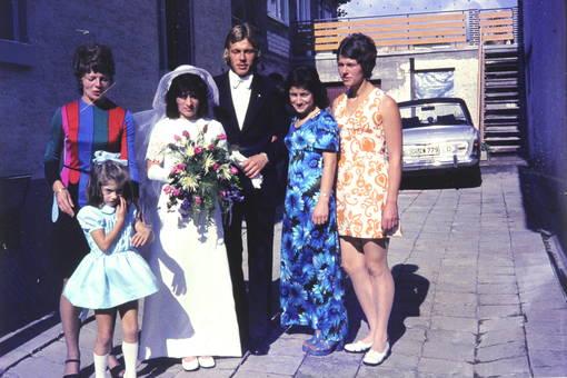 Bunte Hochzeitsgäste