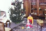 Mit der Puppe am Baum