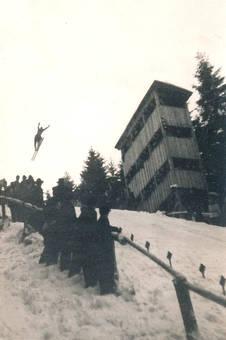 Sprungschanze im Erzgebirge