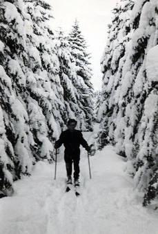 Skifahren im Erzgebirge 1953