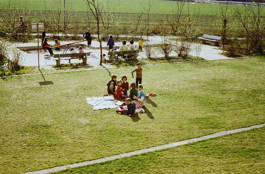 Picknick am Spielplatz