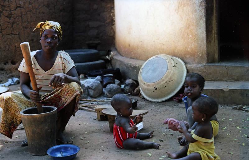 arbeiten, Elfenbeinküste, Kindheit, mode, Mutter