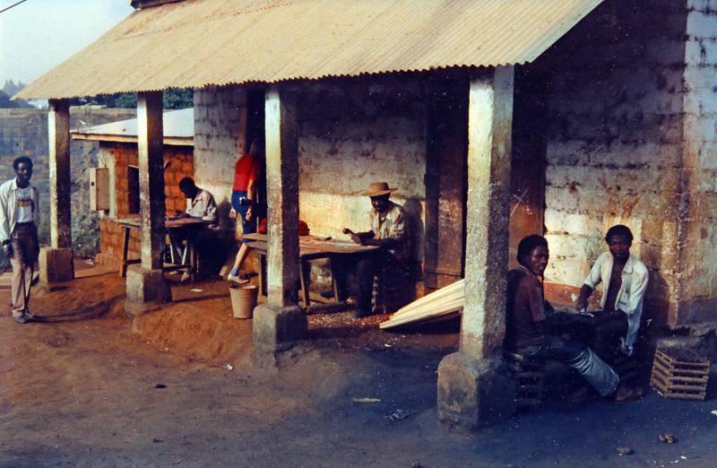 arbeit, haus, Kamerun, mode, Veranda