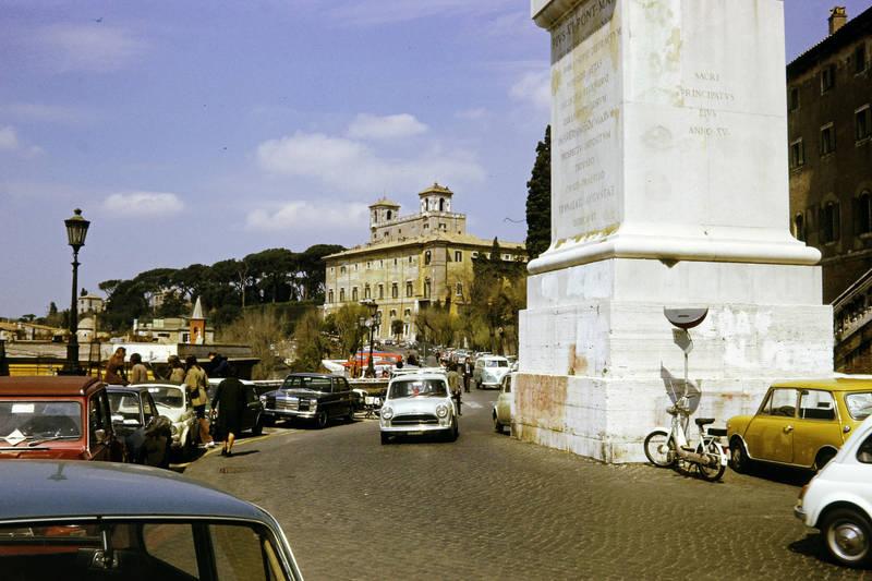 auto, Fiat-500, mercedes/8, mini-cooper, Parkplatz, PKW, Rom, vw bus