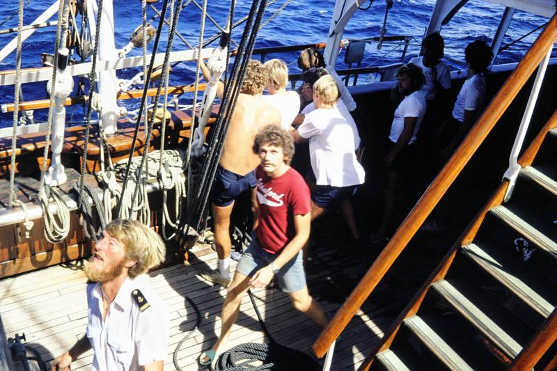 boot, deck, Karibisches Meer, Seacloud, Viermastbarkrigg