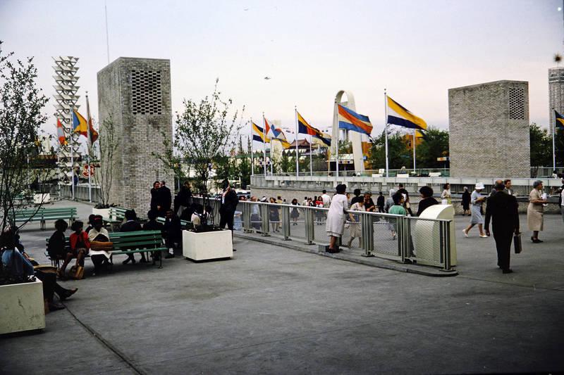 Eingang, flagge, mode, New York City, New York World's Fair, park, Weltausstellung
