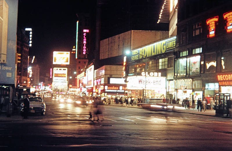 Bowling, claridge, Globe Theater, Leuchtreklame, Lunt-Fontanne Theatre, New York City, Times Square, week-end