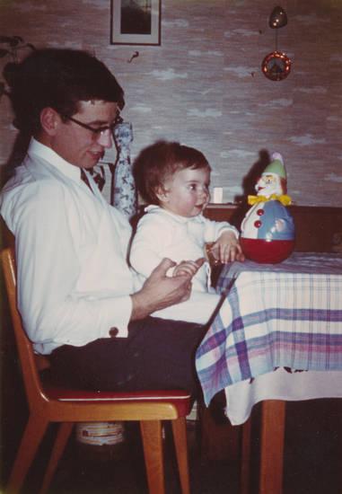 baby, Clown, Kindheit, kleinkind, Spielzeug, vater