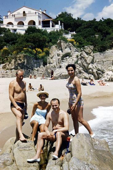 badehose, bademode, Bikini, Fels, sand, Spanien, strand, Ufer, urlaub
