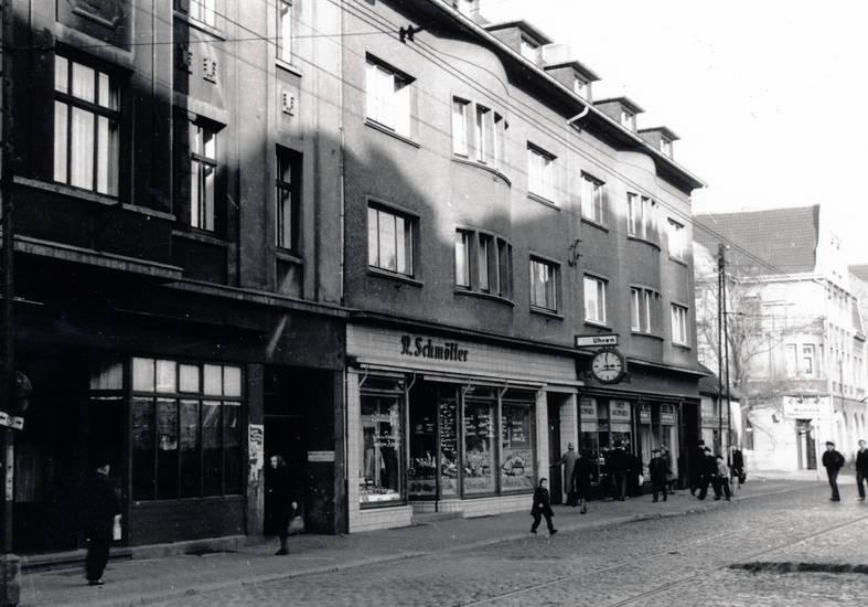 castrop-rauxel, Habinghorst, Lange Straße, metzger, R.Schmöller, straße, uhren