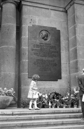 berlin, Blume, gedenktafel, John F. Kennedy, Kindheit, schöneberger rathaus, Sommer