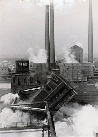 abriss, castrop-rauxel, Fabrik, fabrikgebäude, Rauch, sprengung, Zeche