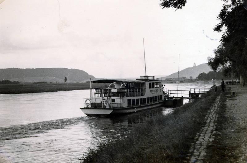 fluss, Kaiser-Wilhelm-Denkmal, Porta westfalica, schiff, Ufer, Weser