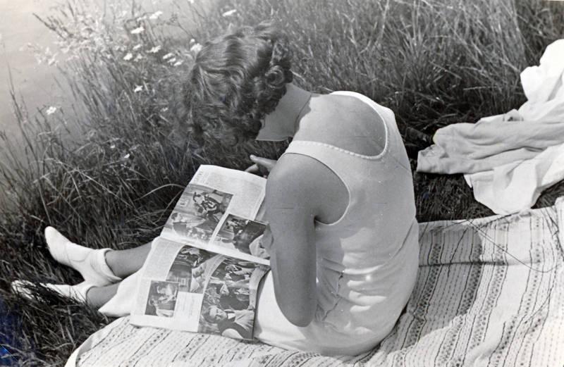 fluss, freizeit, gras, Lesen, Magazin, pause, Zeitschrift, zeitung