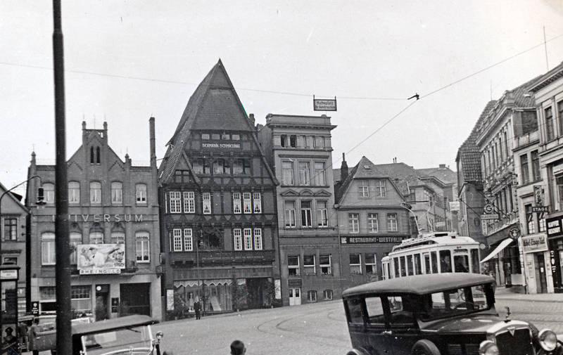 auto, bahn, geschäft, Hermann Schmieding, KFZ, laden, markt, Minden, PKW, Straßenbahn