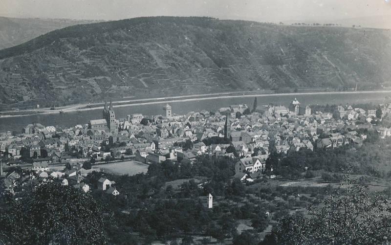 Anhöhe, Boppard, fluss, gewässer, haus, hügel, kirche, Rhein, Ufer