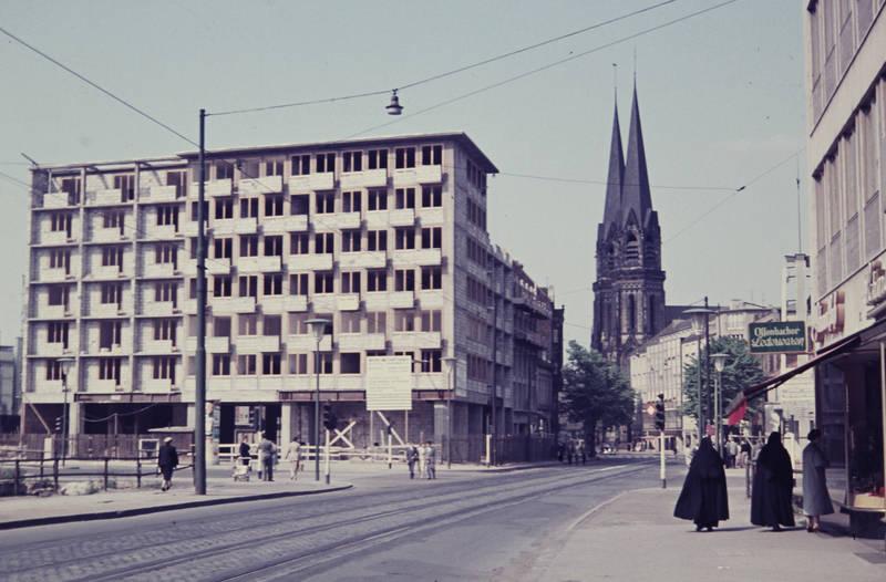 auto, Baustelle, KFZ, Oststraße, PKW, St. Mariä Empfängnis