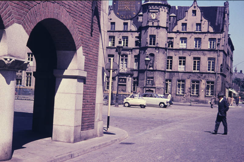 Altstadt, auto, Düsseldorf, isetta, KFZ, PKW, Rathaus