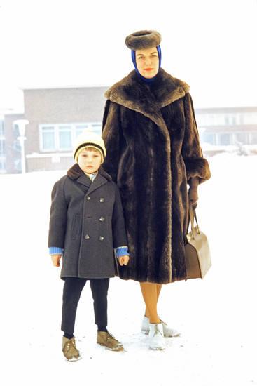 Jacke, Kindheit, mode, pelz, Pelzhut, pelzmantel, Tasche, winter