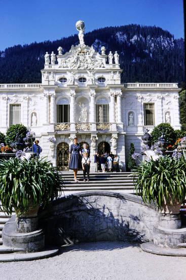 Berg, Kindheit, schloss linderhof, Schlossgarten