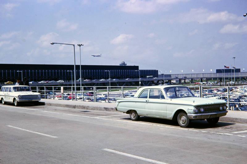 auto, Chicago, flugzeug, KFZ, O'Hare Flughafen, Parkplatz, PKW