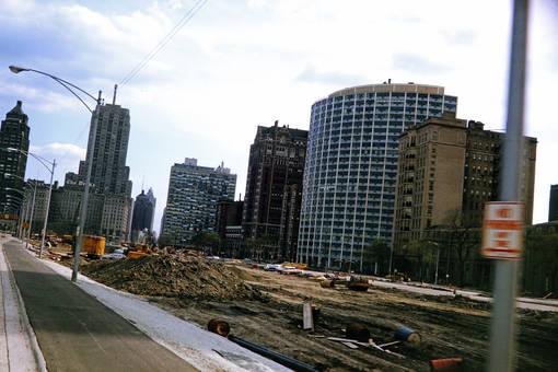Baustelle vor dem Drake Hotel