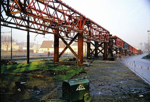Bau einer Bahnrampe