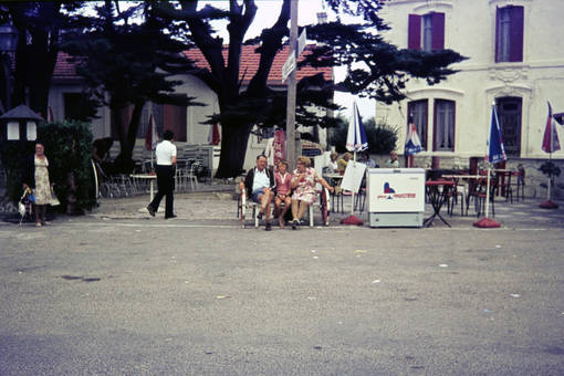 Parkbank in Frankreich