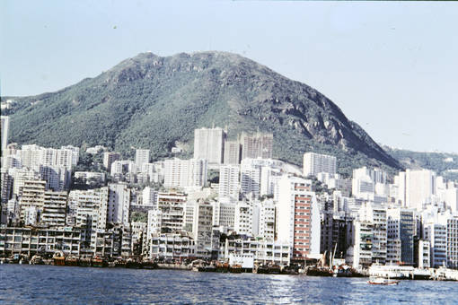 Ausblick auf Hongkong vom Meer